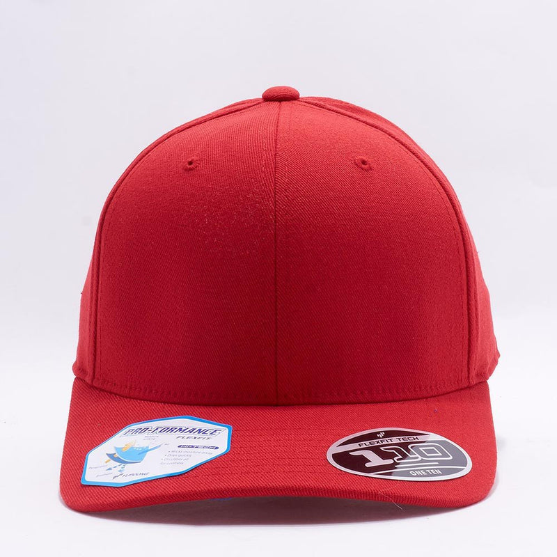 Blank Red Baseball Caps