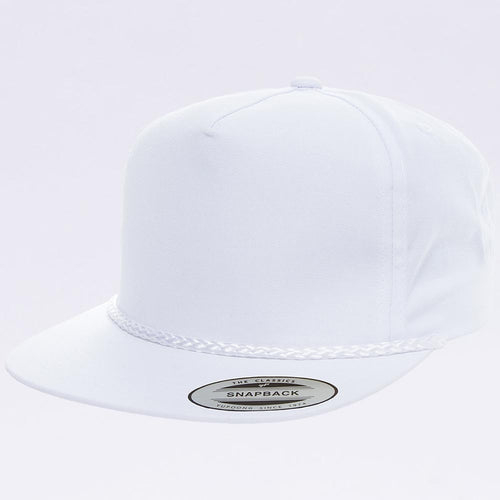 Wholesale Snapbacks - Yupoong White 6002 Classic Poplin Golf Snapback