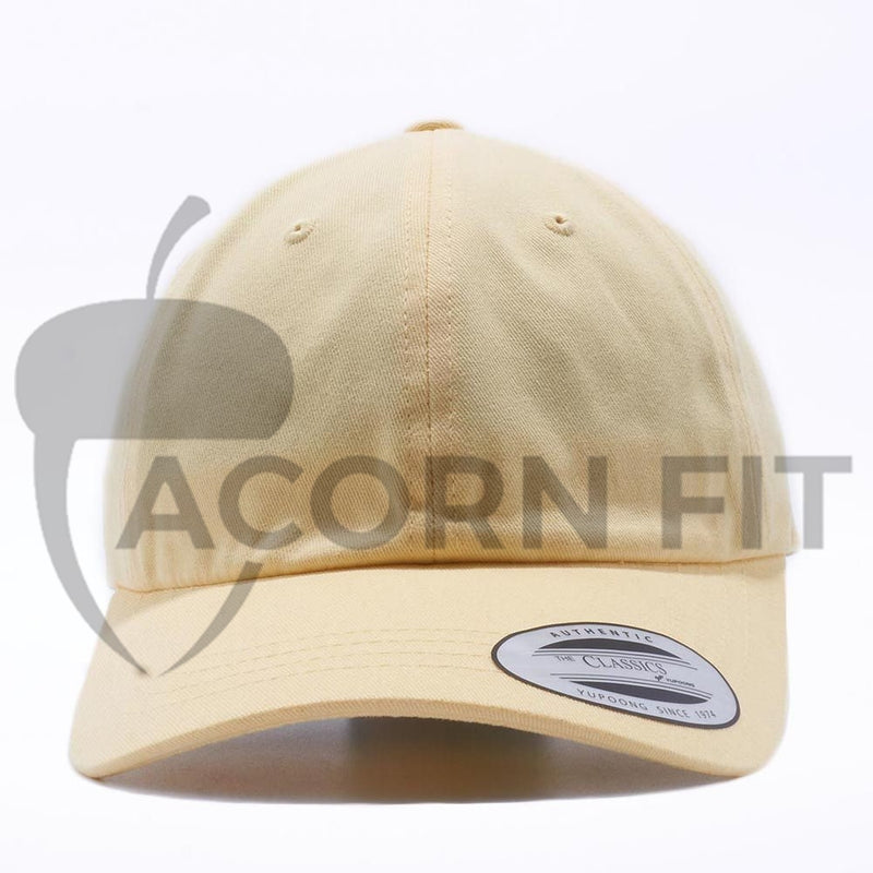 Blank Unstructured Dad Hats Wholesale - Yupoong Classic 6245PT Yellow