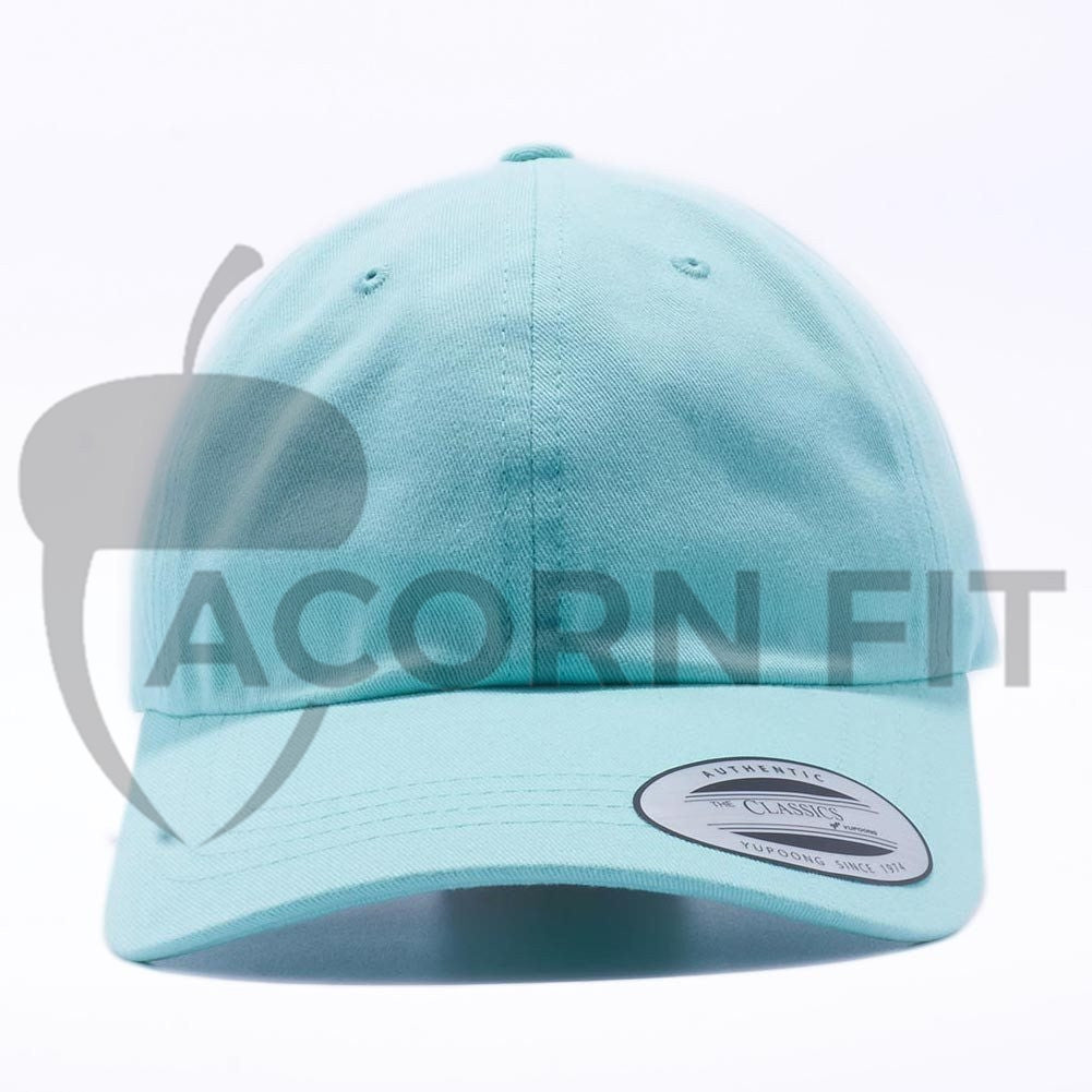 Blank Unstructured Dad Hats Wholesale - Yupoong Classic 6245PT Diamond Blue 8ad0c2ce55e2