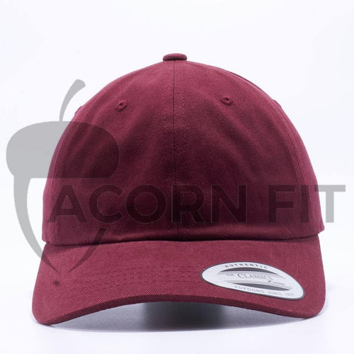 Blank Unstructured Dad Hats Wholesale - Yupoong Classic 6245PT Maroon
