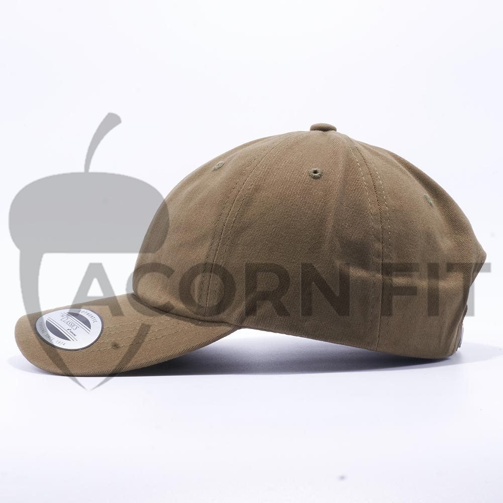 Yupoong 6245PT Peached Cotton Twill Dad Hat Wholesale  Loden  – Acorn Fit 282067f01e8a