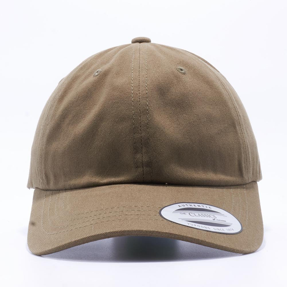 Blank Unstructured Dad Hats Wholesale - Yupoong Classic 6245PT Loden e5554ddf563