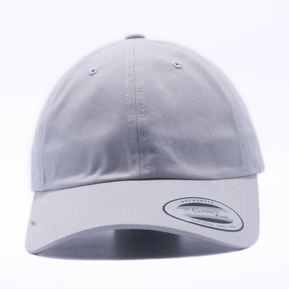 49fdaedf67e Blank Unstructured Dad Hats Wholesale - Yupoong Classic 6245PT Light Grey