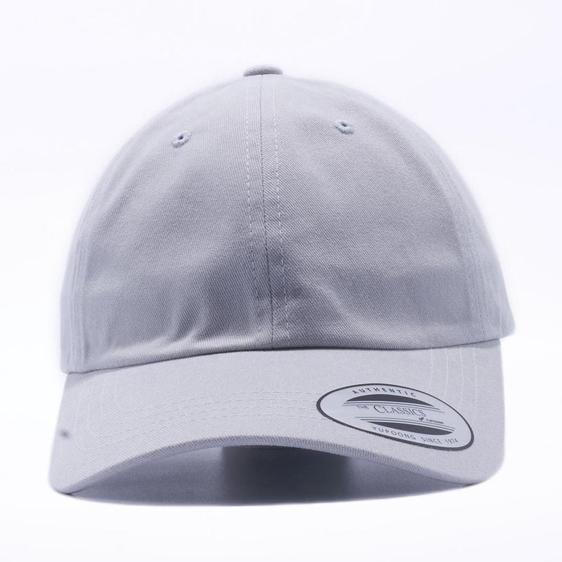 Blank Unstructured Dad Hats Wholesale - Yupoong Classic 6245PT Light Grey