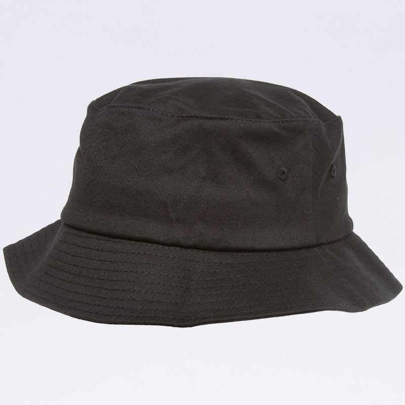 Wholesale Bucket Hats - Flexfit 5003 Black Bucket Hat
