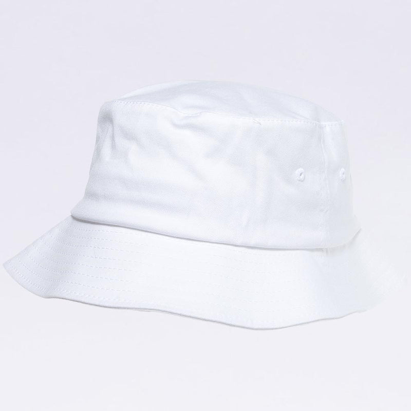 Wholesale Bucket Hats - Flexfit 5003 White Bucket Hat