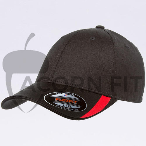 Wholesale Flexfit - 5006 Black Red V-Flexfit Sweep Profiled Hat