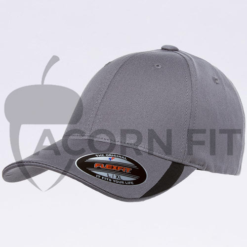 Wholesale Flexfit - 5006 Grey/Black V-Flexfit Sweep Profiled Hat