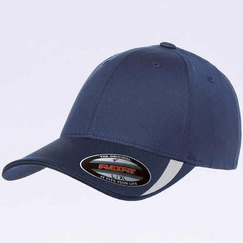 Wholesale Flexfit - 5006 Navy Silver V-Flexfit Sweep Profiled Hat