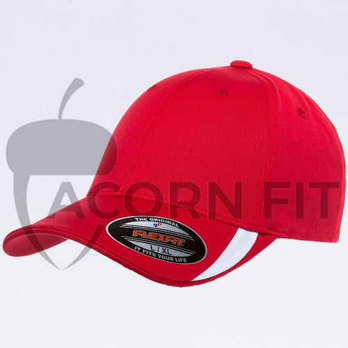 Wholesale Flexfit - 5006 Red White V-Flexfit Sweep Profiled Hat