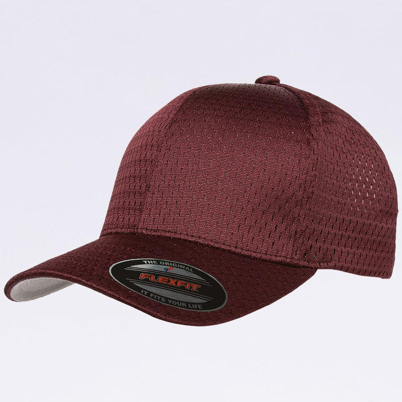 Wholesale Flexfit - 6777 Athletic Mesh Hat Maroon
