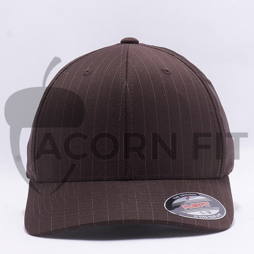 Wholesale Flexfit 6195P Pinstripe Hat Brown