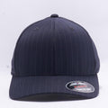 Wholesale Flexfit 6195P Pinstripe Hat Dark Grey