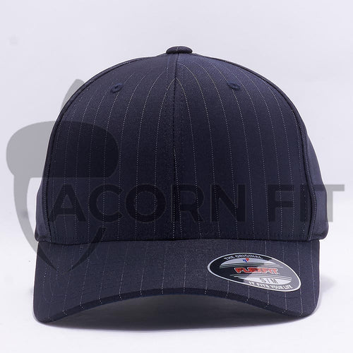 Wholesale Flexfit 6195P Pinstripe Hat Dark Navy