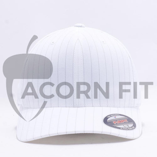 Wholesale Flexfit 6195P Pinstripe Hat White