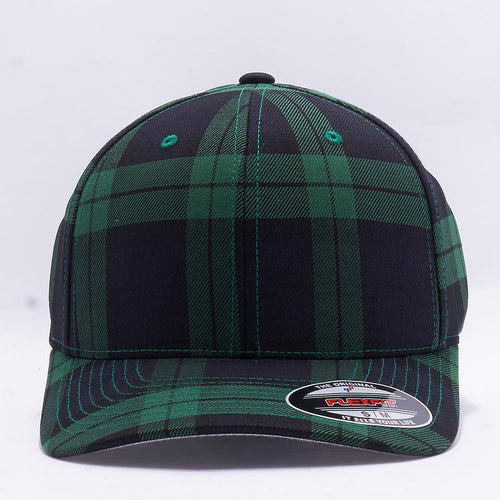 Wholesale Flexfit 6197 Tartan Plaid Hat Black Green