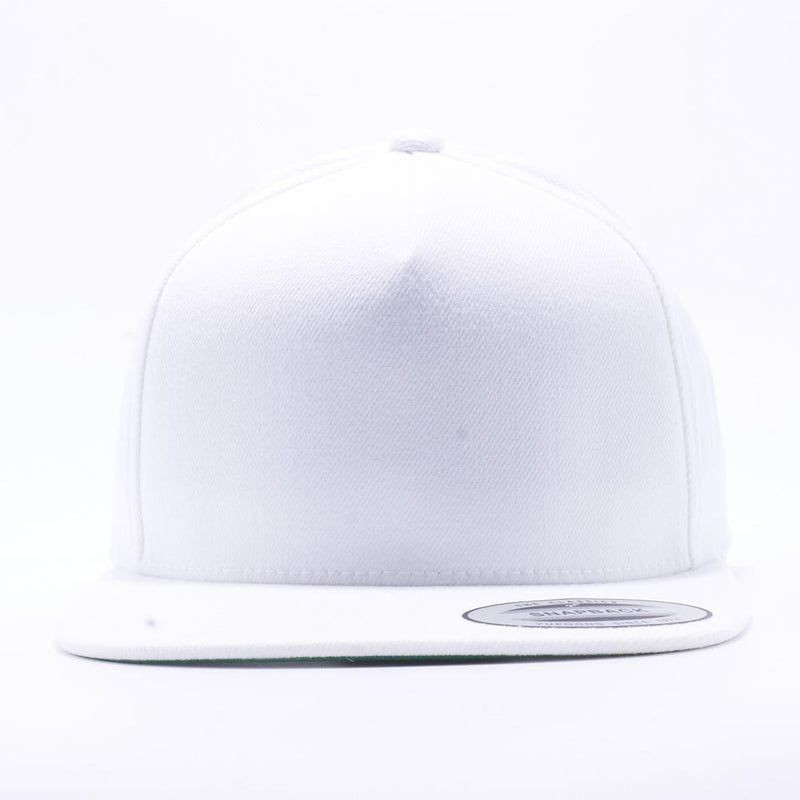Yupoong 5089M Classic 5 Panel Snapback Hats Wholesale White - Acorn Fit