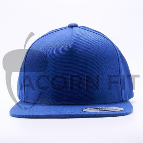 Yupoong 5089M Classic 5 Panel Snapback Hats Wholesale Royal - Acorn Fit