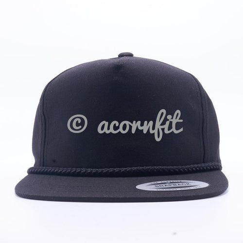 Wholesale Snapbacks - Yupoong Black 6002 Classic Poplin Golf Snapback