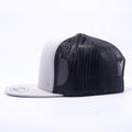 Blank Trucker Hats Wholesale - Yupoong 6006 Classic Trucker Hats Wholesale Silver/Black
