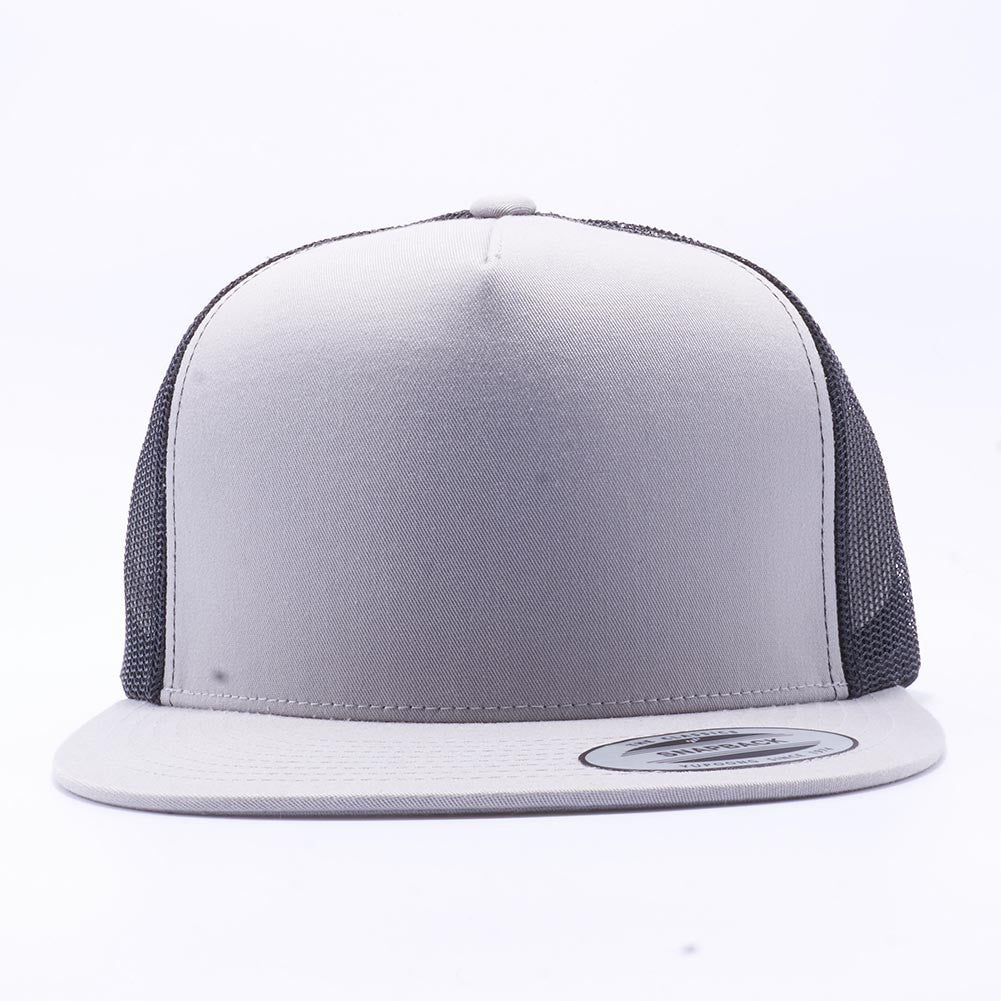 Blank Trucker Hats Wholesale - Yupoong 6006 Classic Trucker Hats Wholesale  Silver Black d010a633128