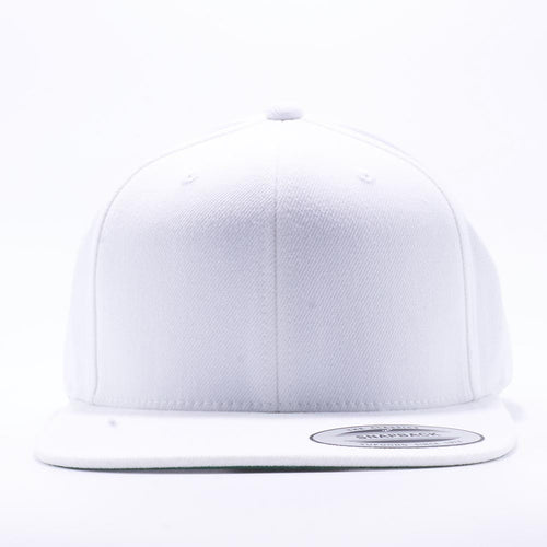 Yupoong 6089M White Classic Snapback Hats Wholesale Custom - Acorn Fit