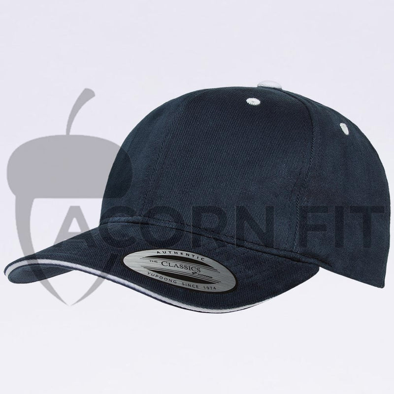Wholesale Hats - Yupoong 6262SV Navy White Sandwich