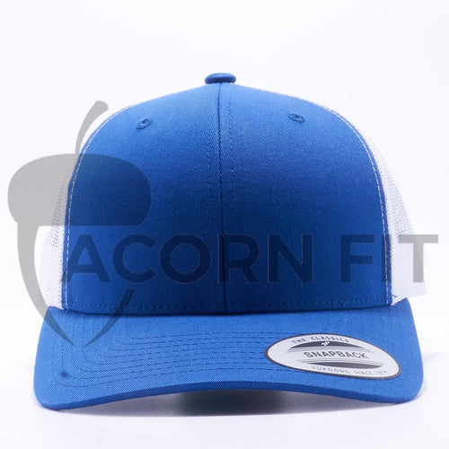 7a34a301 Yupoong 6606T Royal and White Two Tone Classic Retro Trucker Hats Caps  Wholesale Custom - Acorn