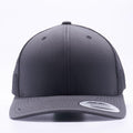 Yupoong 6606T Charcoal and Black Two Tone Classic Retro Trucker Hats Caps Wholesale Custom - Acorn Fit
