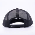 Yupoong 6606W Black and White Front Panel Classic Retro Trucker Hats Caps Wholesale Custom - Acorn Fit