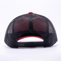 Yupoong 6606T Red and Black Two Tone Classic Retro Trucker Hats Caps Wholesale Custom - Acorn Fit