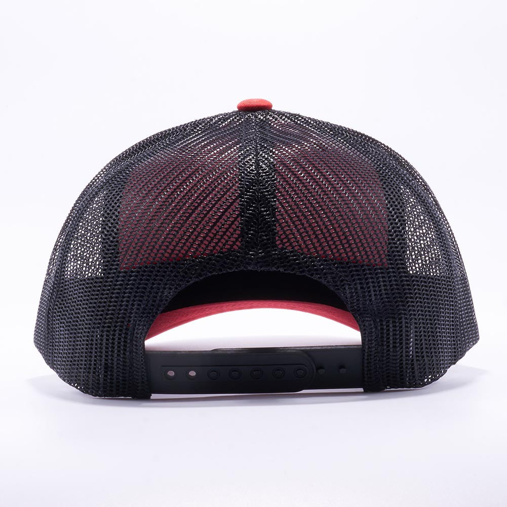 ... Yupoong 6606T Red and Black Two Tone Classic Retro Trucker Hats Caps  Wholesale Custom - Acorn ... 40ab3962ff3
