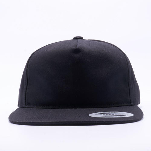 c4af064a Black Wholesale Yupoong 6502 Unstructured 5 Panel Snapback Hat Custom - Acorn  Fit