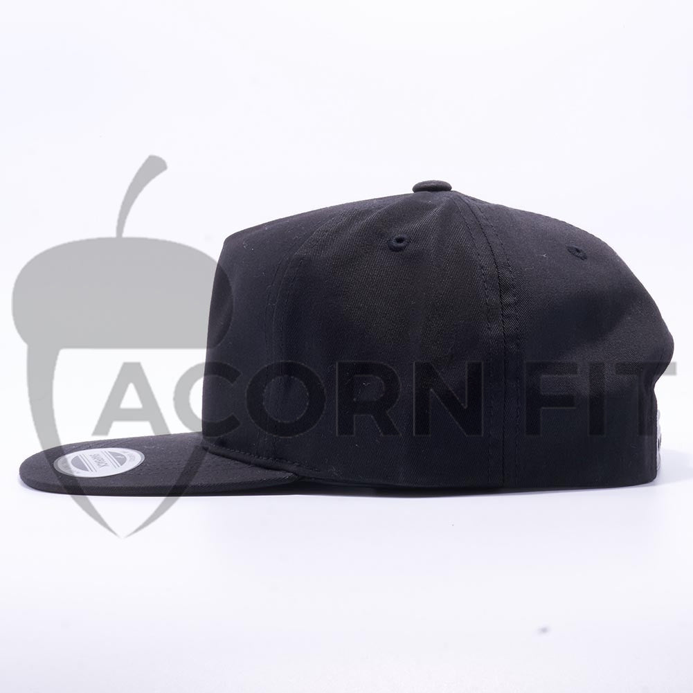 3e99945e55a3c Wholesale Yupoong 6502 Unstructured 5 Panel Snapback  Black  – Acorn Fit