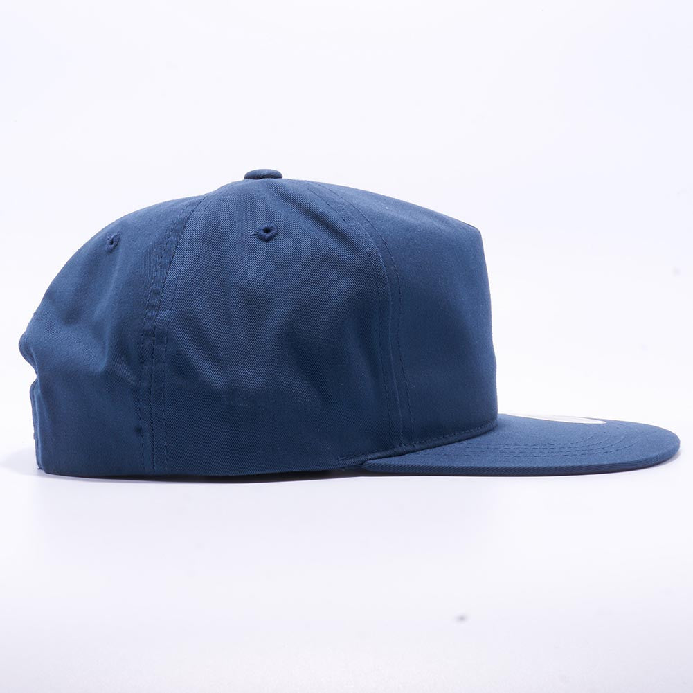 bf736254173b4 Wholesale Yupoong 6502 Unstructured 5 Panel Snapback  Navy  – Acorn Fit