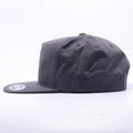Charcoal Wholesale Yupoong 6502 Unstructured 5 Panel Classic Snapback Hat Custom - Acorn Fit