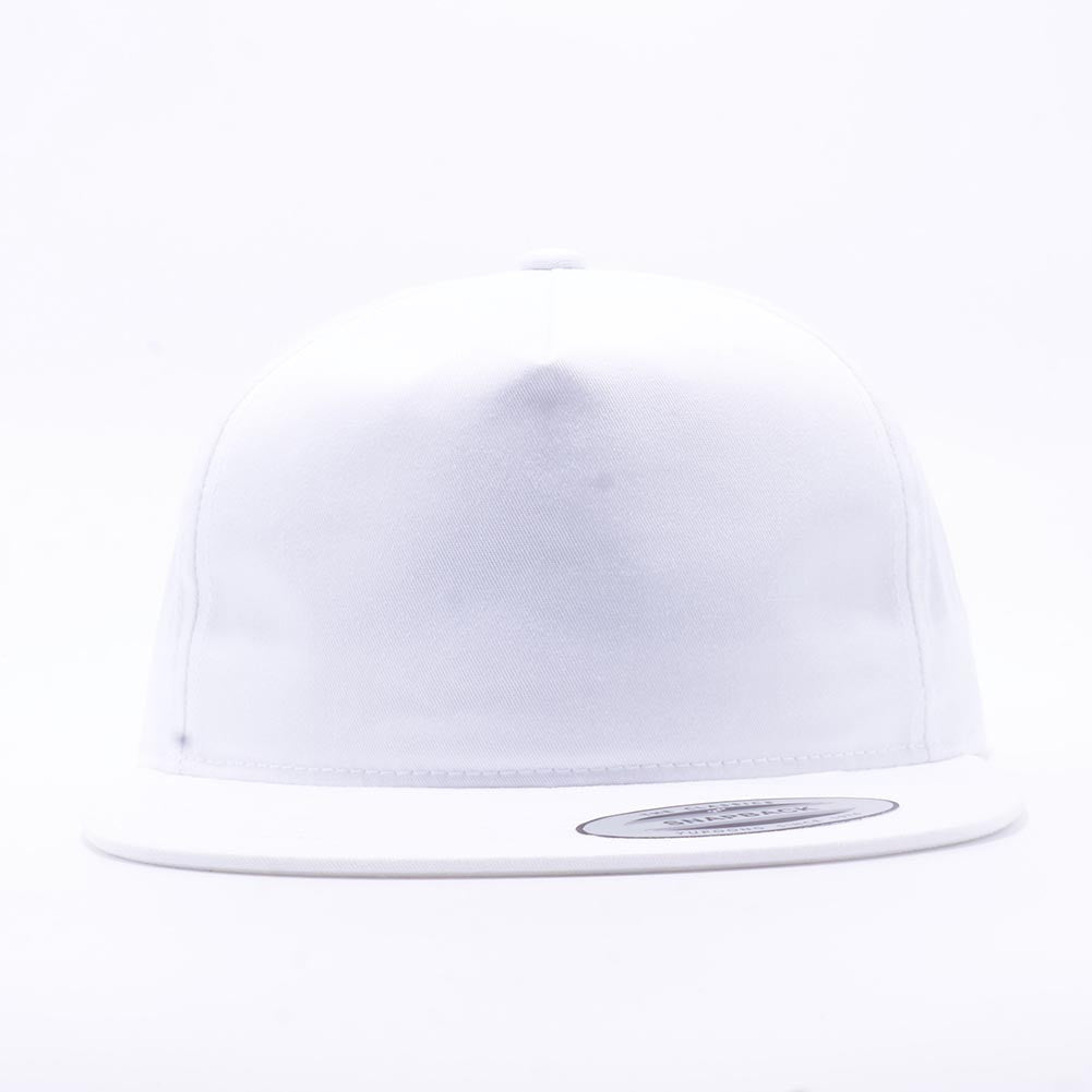 579936112 Wholesale Yupoong 6502 Unstructured 5 Panel Snapback [White]
