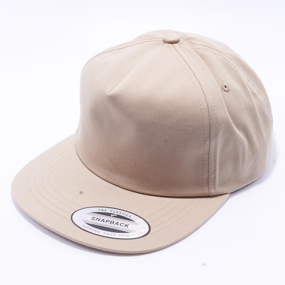 7aead734514 ... Khaki Wholesale Yupoong 6502 Unstructured 5 Panel Classic Snapback Hat  Custom - Acorn Fit