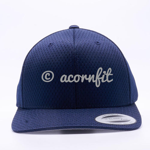 Yupoong The Classics 6008 Navy Athletic Pro Mesh Hat Wholesale and Custom- Acorn Fit
