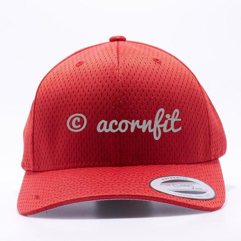 Yupoong The Classics 6008 Red Athletic Pro Mesh Hat Wholesale and Custom- Acorn Fit