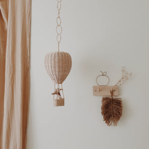 coconeh handmade wicker toys, hot air balloon wicker