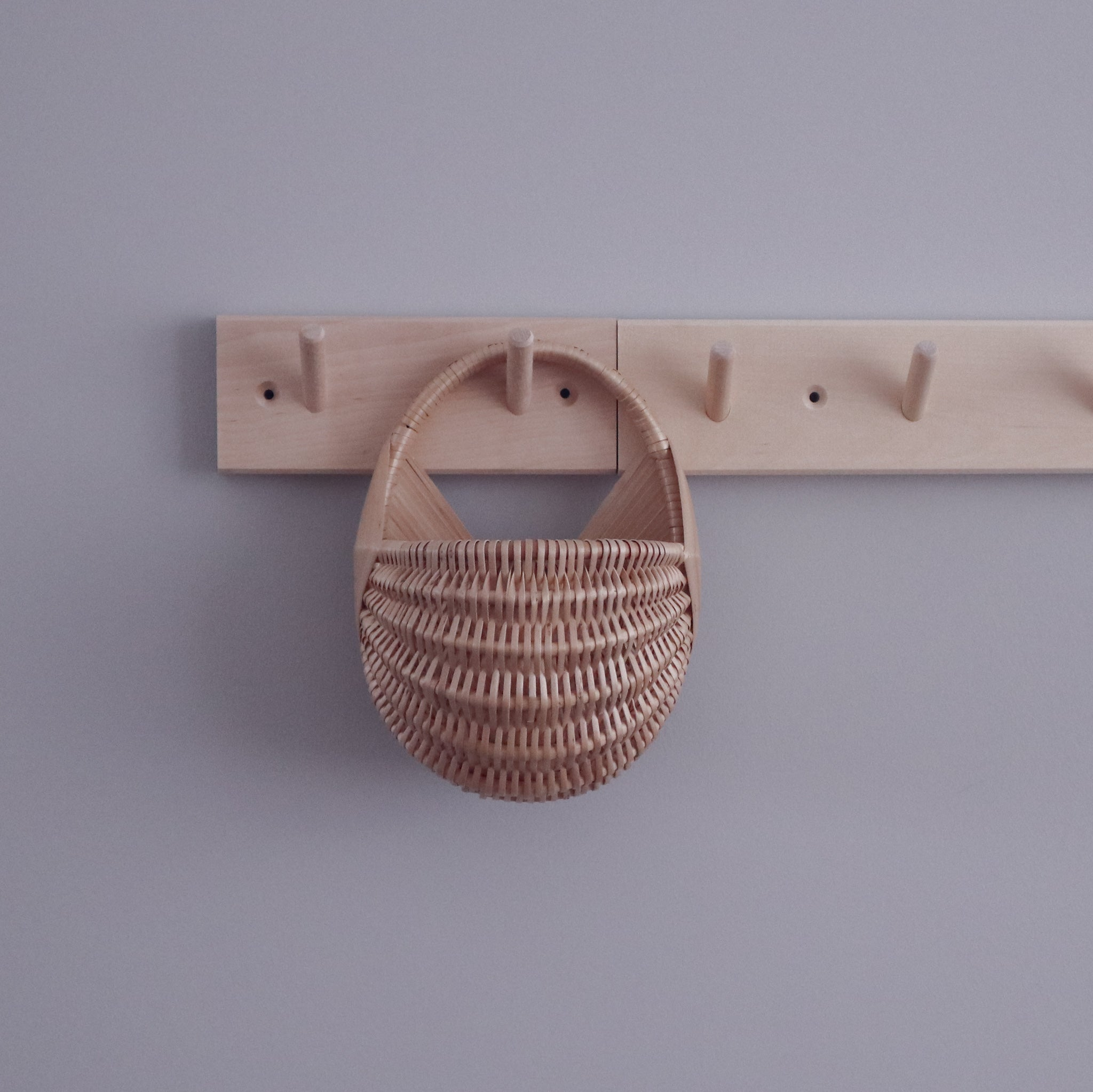 wall basket on wooden hanger