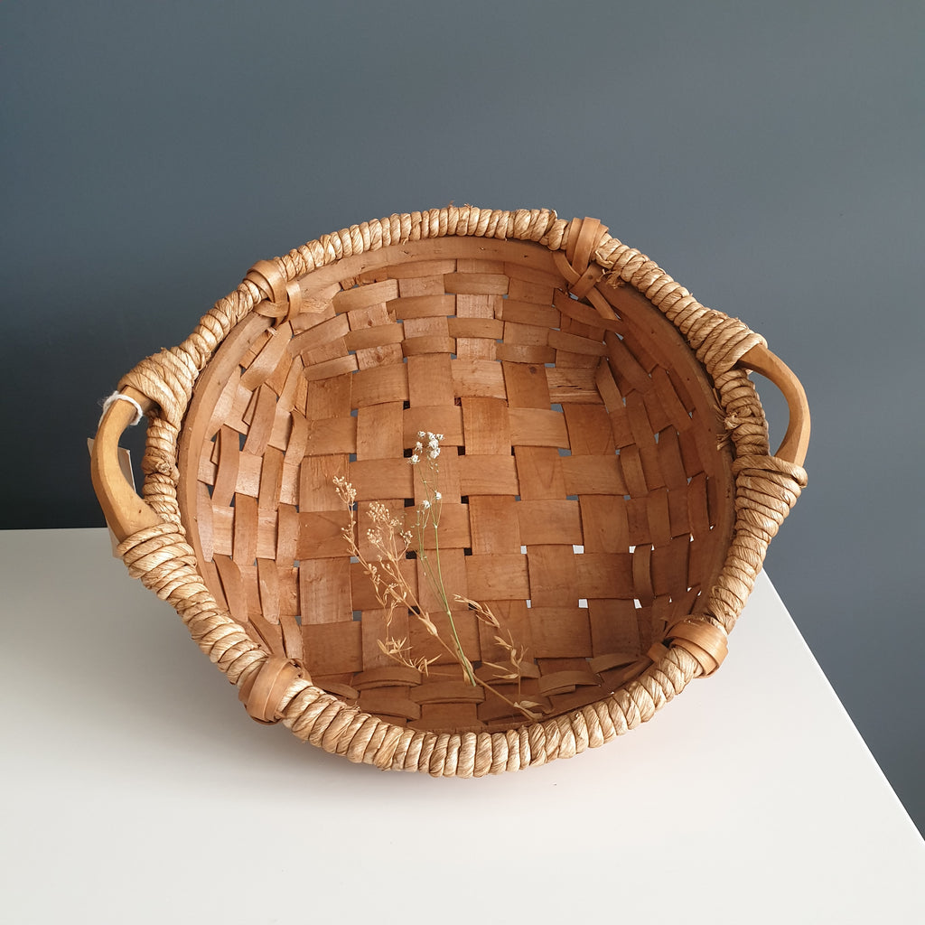 wicker basket brown handmade in europe