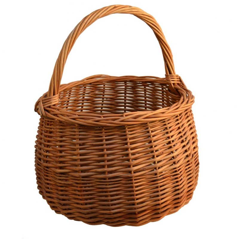 rattan basket with handle  coocneh