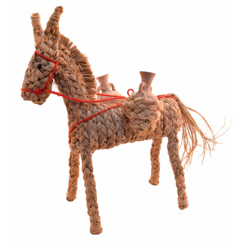 ecological tous handmade donkey with natural fibers