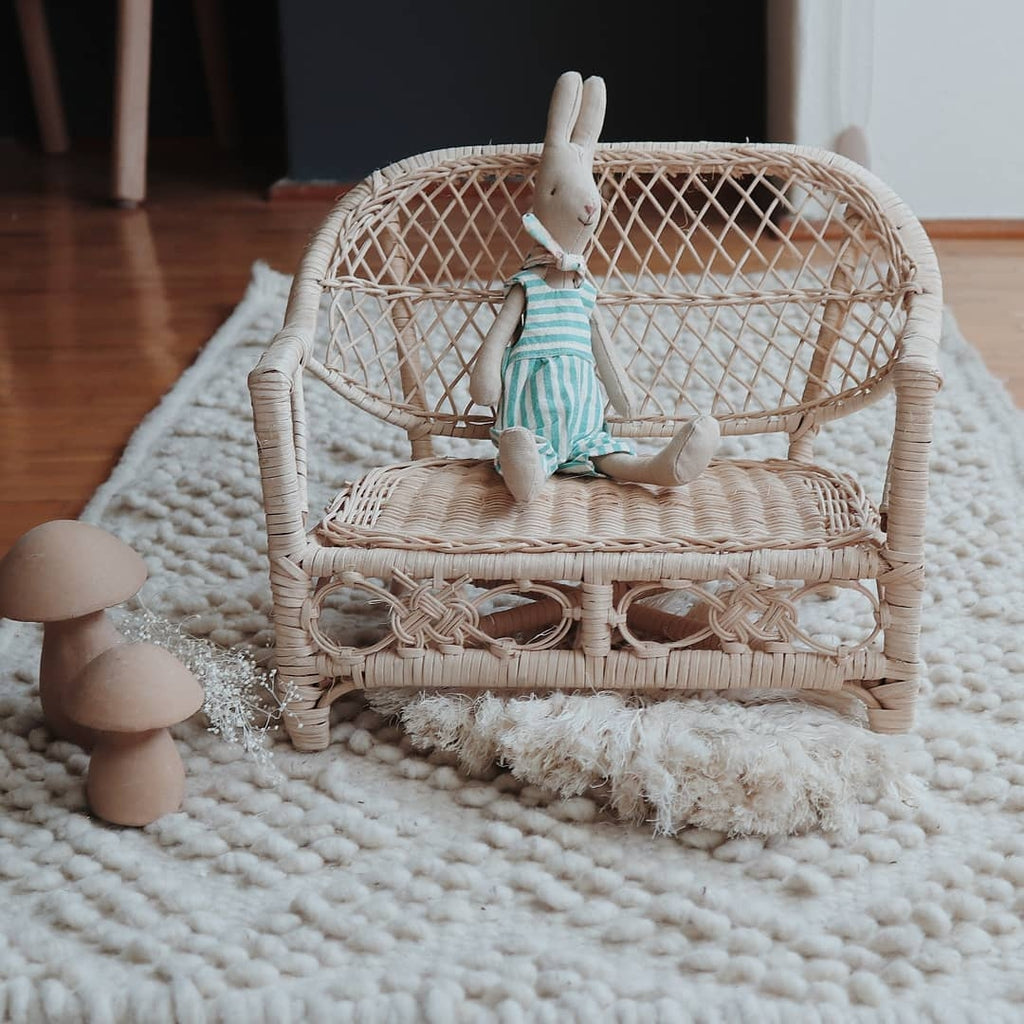 rattan sofa chair for soft toys