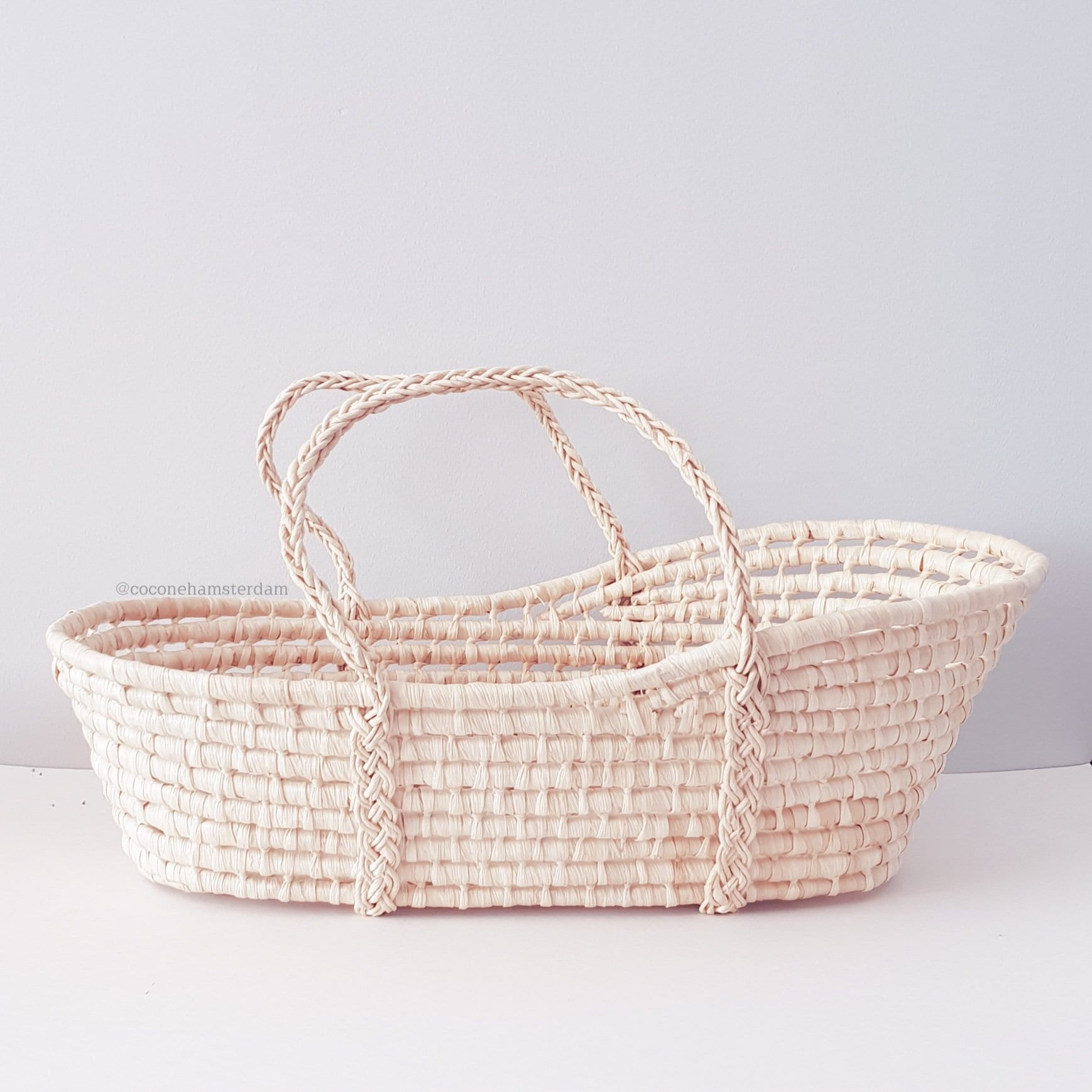 Natural  Palm Leaf Doll/Plush  Carrycot - 36cm