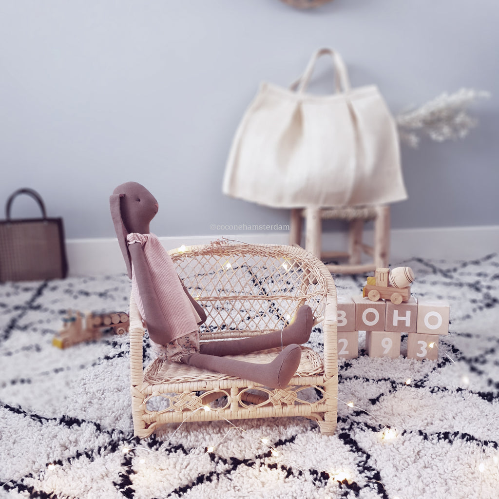 natural doll chair made from willow