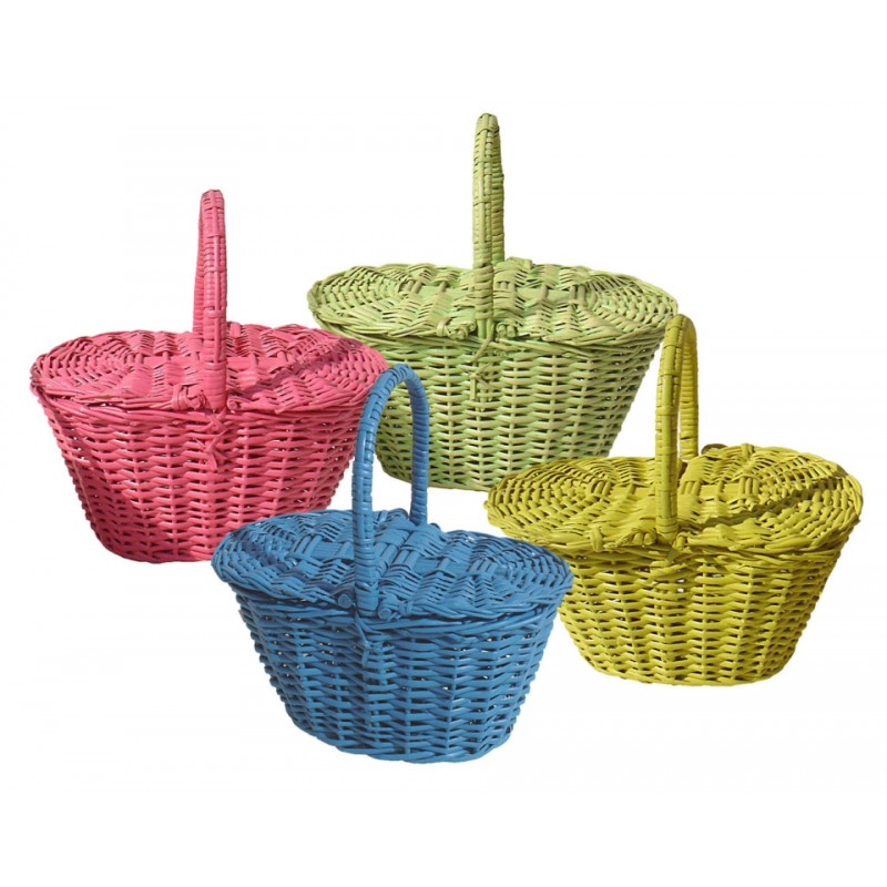 wicker colours basket for easter and picninc coconeh